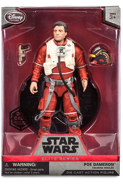 Hasbro Star Wars Elite Series Die Cast Poe Dameron Figure